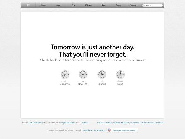 图为苹果公司官网截图