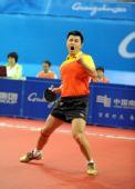 图文:乒球男团中国队夺冠 王皓狂呼庆祝胜利