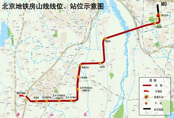北京地铁房山线_北京地铁房山线站点分布图(来源:首都之窗)