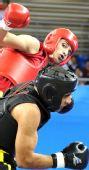 图文:男子散手75KG伊朗选手折桂 重拳击溃对手
