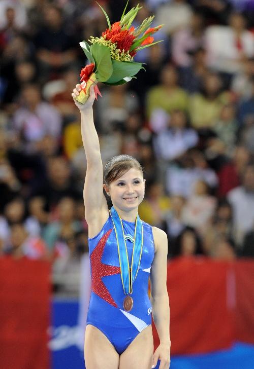 (亚运会·领奖台)(4)体操——女子平衡木颁奖仪式