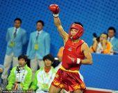 武术男子散手65公斤决赛 中国选手张军勇夺冠军