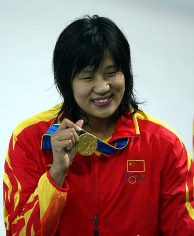 第1金 女子200米自由泳 朱倩蔚 中国