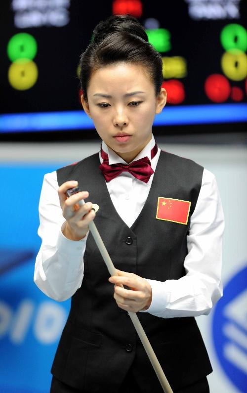 台球――潘晓婷闯入女子美式9球决赛