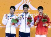 图文:男子50米仰泳颁奖仪式 颁奖仪式现场