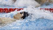 图文:男子4X100米混合泳 朴善冠在比赛中