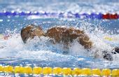 图文:男子4X100米混合泳 第四棒选手原田兰丸