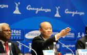 图文:亚运反兴奋剂新闻发布会举行 萧威利发言