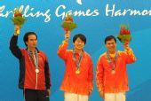 图文:象棋男子个人赛颁奖仪式举行 前三名合影