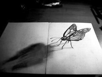 铅笔画立体画