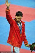 图文:跆拳道女子73公斤以下级 罗微夺冠