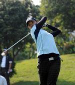 图文:女子团体赛比赛 中华台北球手刘依贞