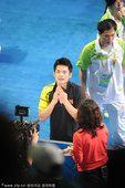 图文:林丹实现大满贯 赛后接受采访