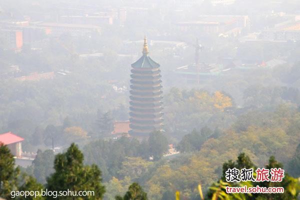 傍晚八大处俯瞰北京城