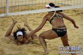 图文:女子沙排决赛上演中国德比 张希奋不顾身