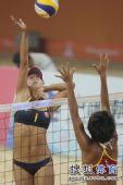 图文:女子沙排决赛上演中国德比 薛晨网上进攻