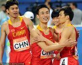 亚运会男子4X100预赛 中国队小组第一身份晋级