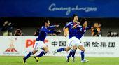 图文:男足决赛日本胜阿联酋 实藤友纪狂奔庆祝