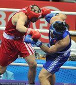 亚运拳击男子91公斤以上级决赛 张志磊夺得冠军