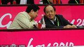 女篮决赛中国VS韩国队 体育总局副局长肖天观战