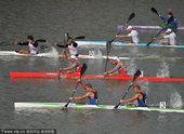 图文:男子200米双人皮艇 日本队夺冠中国第三