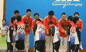 图文:广州亚运会围棋男子团体颁奖 韩国夺冠中国摘银(1)