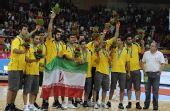 图文:亚运男篮颁奖仪式举行 伊朗队获得铜牌