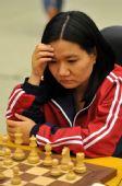 图文:国际象棋男子团体颁奖 黄氏宝簪在比赛中