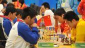 图文:国际象棋男子团体颁奖 男子团体赛中角逐