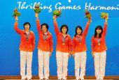 图文:国际象棋女子团体颁奖