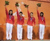 图文:游泳女子4x200米自由泳接力 中国队夺冠