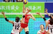 图文:亚运女排决赛中国3-2韩国 马蕴雯扣球