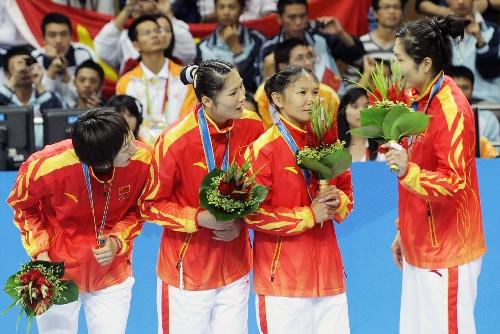 女子手球胜日本亚运首次登顶