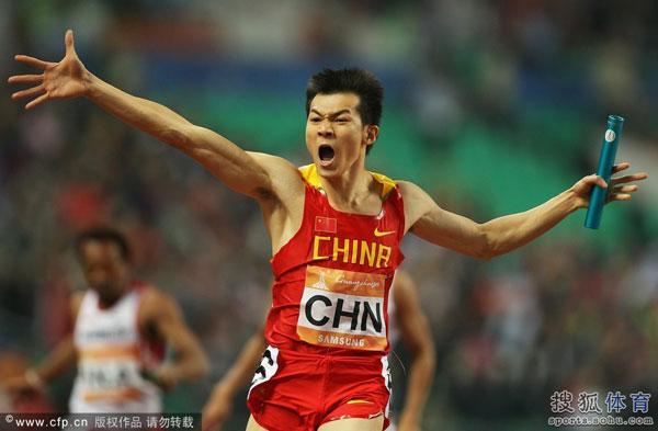 男子4x100米接力时隔20年再夺金