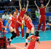 图文:广州亚运会第十五比赛日 中国女排夺冠