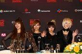 MAMA记者会miss A喜出望外 2PM与2NE1集体缺席