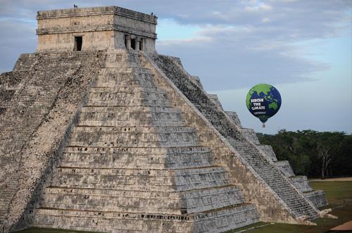 绿色和平组织在墨西哥进行的应对气候变化宣传活动