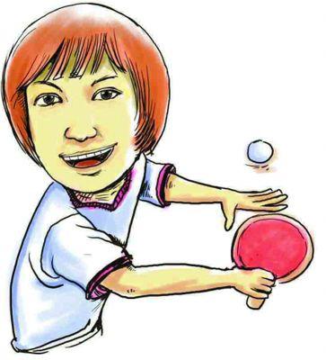 乒乓球图片卡通