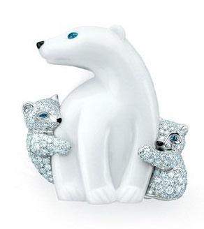 18K白金北极熊胸针(未订价)