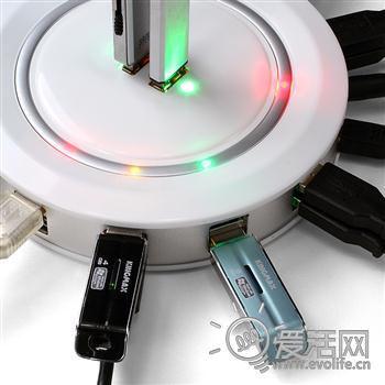 多少都能插 24孔圆形USB HUB登场