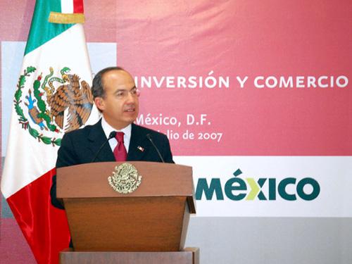 墨西哥总统费利佩•卡尔德