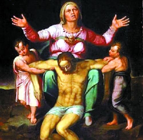 米开朗基罗圣母怜子雕塑模型重回罗马