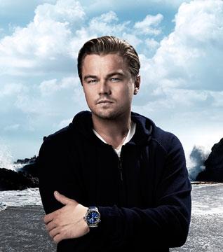 Leonardo DiCaprio佩戴豪雅竞潜500米系列表