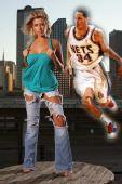 哈里斯女友性感 酒吧情缘证明NBA还有爱情(图)