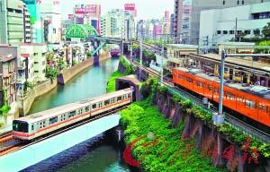 东京的交通网络十分密集和发达。