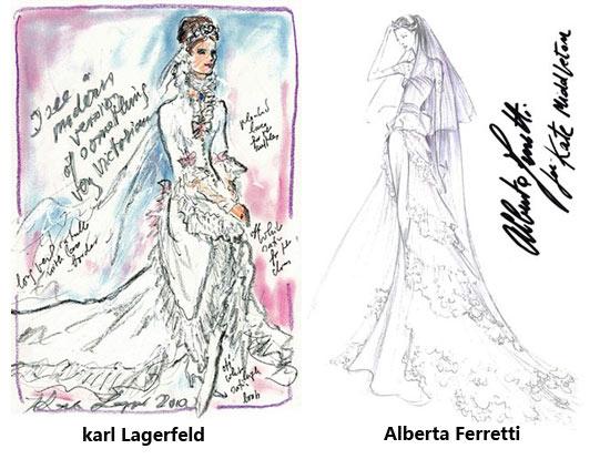 服装设计手稿素描图