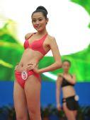 图文:中国体育旅游形象大使评选 高挑美女