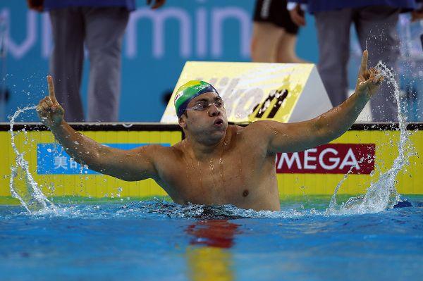 图文:短池世锦赛男50蛙决赛 席尔瓦十分激动