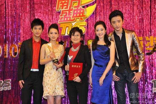 左起:杨洋、李沁、李少红、蒋梦婕、于小彤
