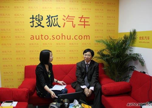 东风柳汽总经理助理兼销售公司总经理姚利文访谈现场
